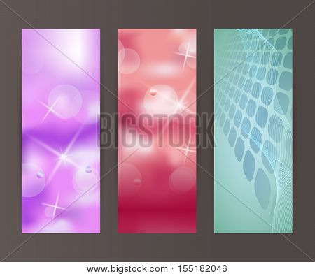 Vertical Banner Set Design Element Background Glow Abstract Shape43