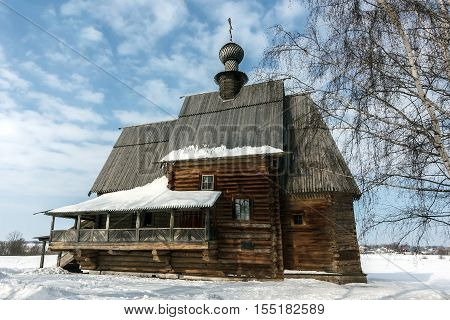 Golden Ring of Russia. St. Nicholas wooden Church in Suzdal