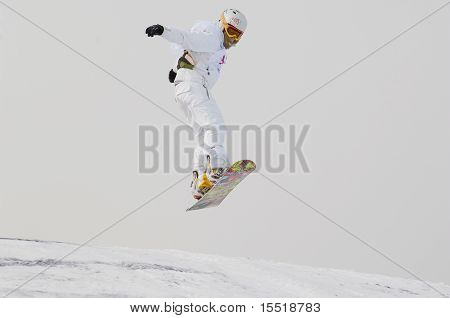 The Championship Of Russia On A Snowboard