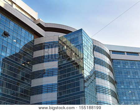 the modern a  high rise office building