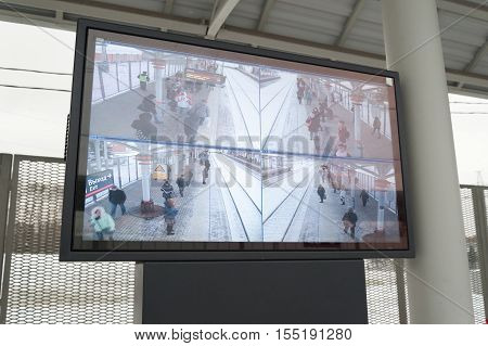 MOSCOW - NOVEMBER 1: Electronic display at