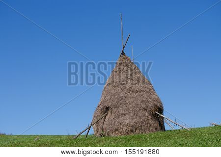 view of a hay bundle, clouse up