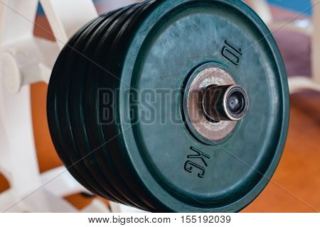 Bar-bells in the gym