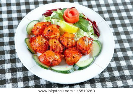 kebab in plate
