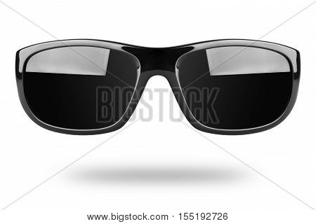 Cool dark sunglasses isolated on white background