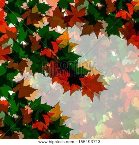 Autumn background of maple leaves. Colofrul image