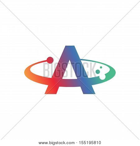 Abstract Letter A Symbol. Colorful creative Word Art. Universal vector icon