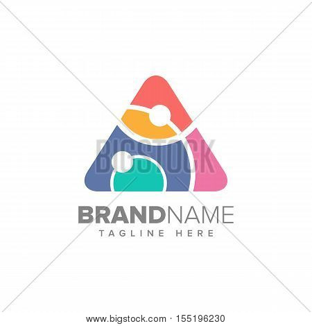 Abstract Colorful Triangle Symbol, Universal vector icon