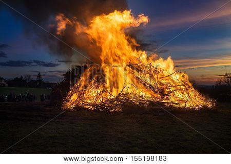 Easter fire, an old german traditon. It comes along with a big festival