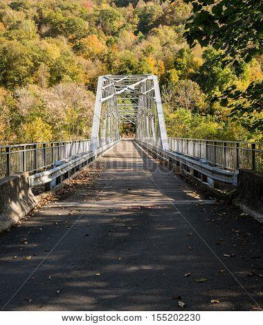 Old Fayette Station Bridge In West Virginia