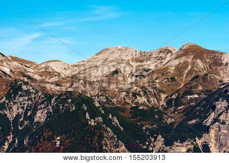 Peak of Carega (cima del Carega - 2259 m) in the little Dolomites (Piccole Dolomiti) Trentino Alto Adige Italy Europe