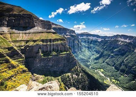 Canyon in Ordesa National Park Pyrenees Huesca Aragon Spain