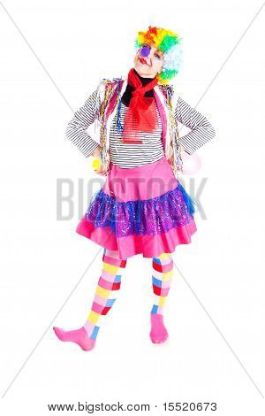 Girl In Bright Carnival Costumes