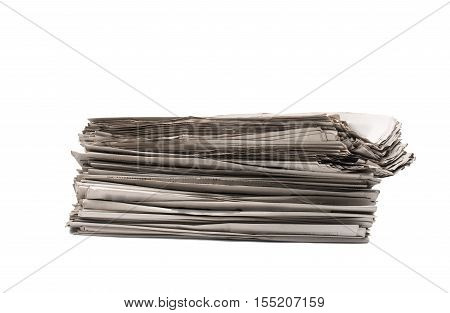 stack of newspapers print, journalist, media, tabloid closeup