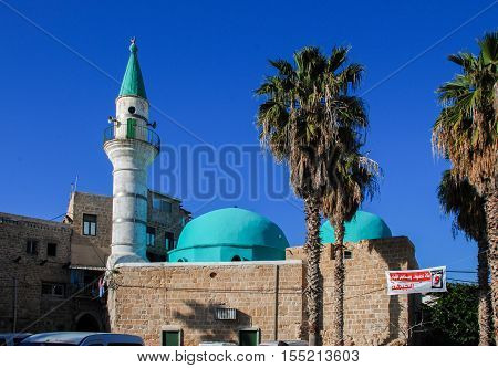 Sinan Basha Mosque (albahr Mosque) In Acre. Israel