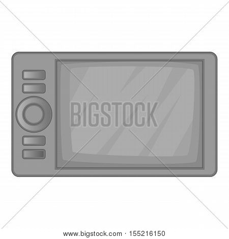 Microwave oven icon. Gray monochrome illustration of microwave oven vector icon for web design