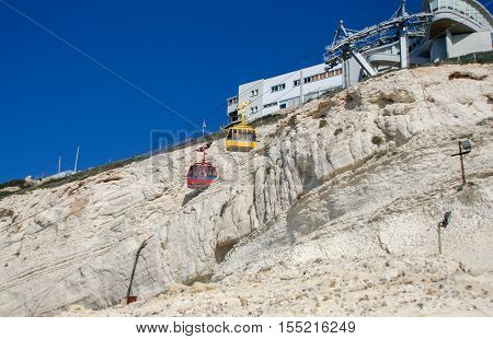 The Cable Car And Station At Rosh Hanikra. Israel