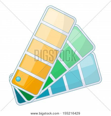 Color swatch icon. Cartoon illustration of color swatch vector icon for web design
