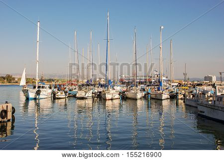 The Marina And Fishing Port Of Acre, Israel