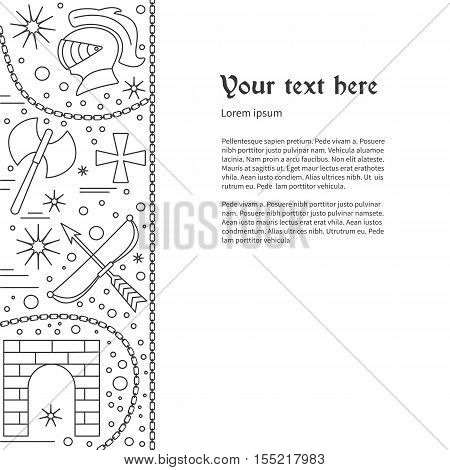 Poster Flyer Medieval Vector & Photo (Free Trial) | Bigstock