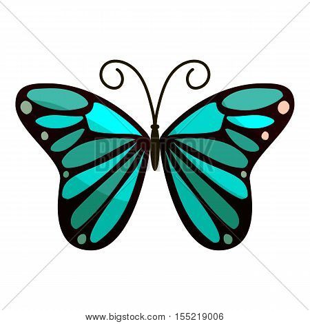 Bright butterfly icon. Cartoon illustration of bright butterfly vector icon for web