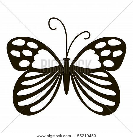 Beautiful butterfly icon. Simple illustration of beautiful butterfly vector icon for web