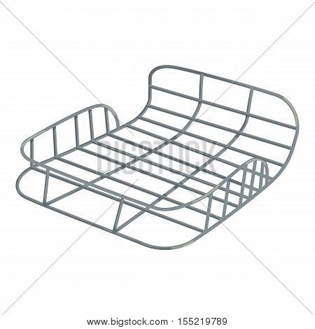 Bike luggage carrier icon. Isometric illustration of bike luggage carrier vector icon for web design