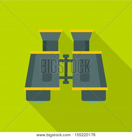 Binoculars icon. Flat illustration of binoculars vector icon for web