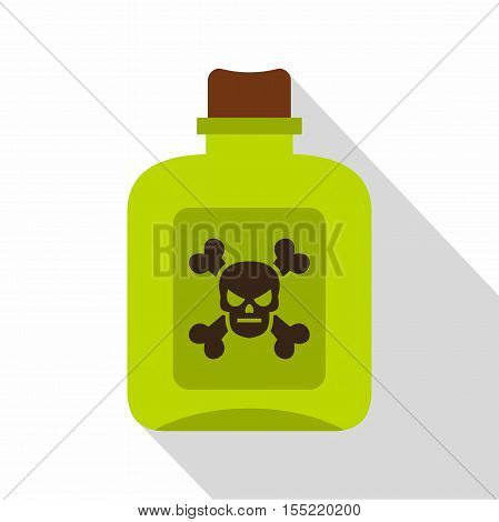 Poison icon. Flat illustration of poison vector icon for web