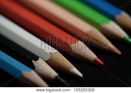 pencils lying on a table in a Office