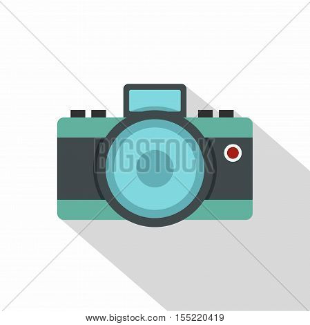 Photocamera icon. Flat illustration of photocamera vector icon for web