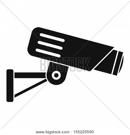 Security camera icon. Simple illustration of security camera vector icon for web