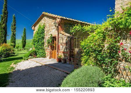 Tuscany Rural house in summer Italy, Tuscany