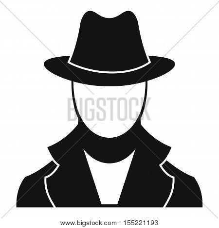 Spy icon. Simple illustration of spy vector icon for web