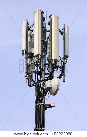 A Mobile Phone Antenna dishes telecommunications equipment