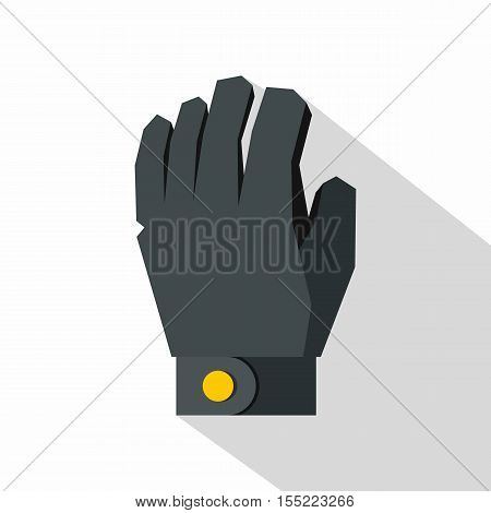 Hockey glove icon. Flat illustration of hockey glove vector icon for web design
