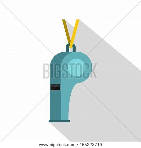 Sport whistle icon. Flat illustration of sport whistle vector icon for web design