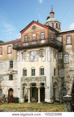 Skete of St. Andrew on Mount Athos in Greece