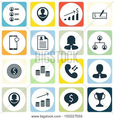 Set Of Hr Icons On Business Woman, Business Goal And Female Application Topics. Editable Vector Illu
