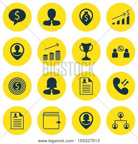 Set Of Hr Icons On Phone Conference, Tree Structure And Tournament Topics. Editable Vector Illustrat