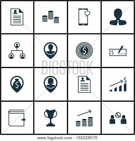 Set Of Hr Icons On Business Goal, Female Application And Messaging Topics. Editable Vector Illustrat