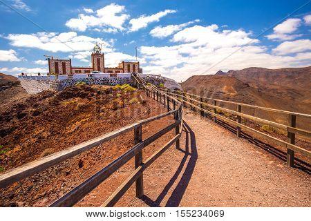 Entallada lighthouse on Fuerteventura Canary island Spain.
