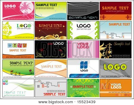 Collection business cards templates 4.  To see similar, please VISIT MY GALLERY.
