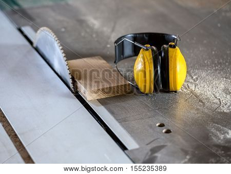 Circular Saw In Carpentry Workshop