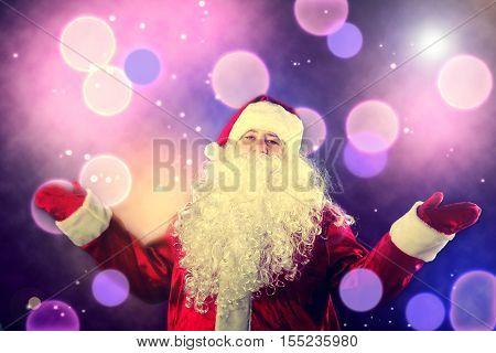 Portrait Of A Smiling Santa Claus.