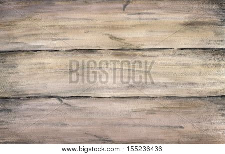 Wood texture with old painted boards. Watercolor hand drawing artistic realistic illustration for design, background, textile