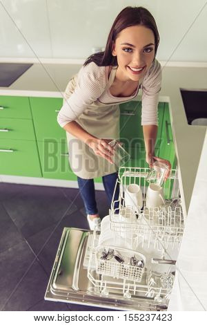 Woman Cleaning Her Kitchen