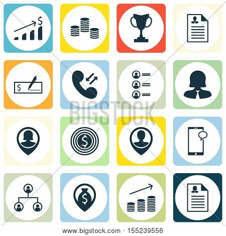 Set Of Hr Icons On Bank Payment, Curriculum Vitae And Successful Investment Topics. Editable Vector