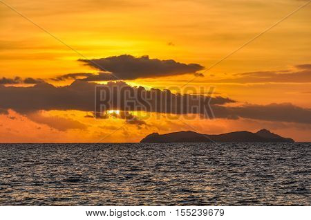 Sunset On Bounty Island In Fiji