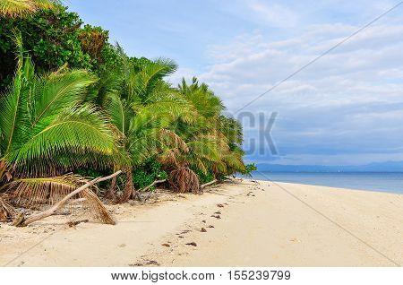 On The Beach Of Bounty Island In Fiji